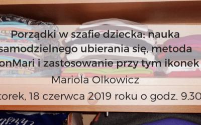 Porządki w szafie dziecka – wywiad z Mariolą Olkowicz