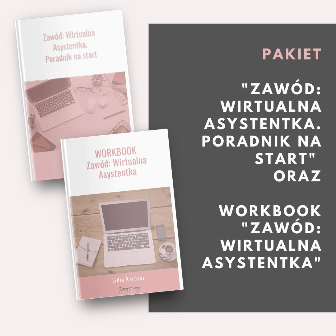 pakiet workbook i poradnik Zawód Wirtualna Asystentka